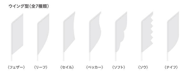 ウイング型(全7種)